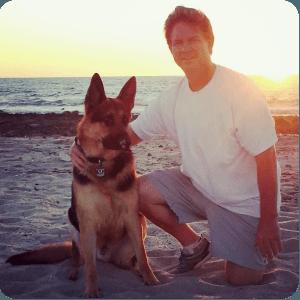 Todd Gray and Duscha the Dog