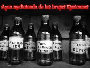 Agua medicinada de las brujas Mexicanas